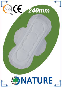 240mm Pure Cotton Sanitary Pads with Super Absorption pictures & photos