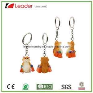 Promotion Gift Resin Shopping Hamster Keychain pictures & photos
