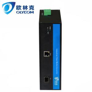 Gigabit Ethernet Industrial Fiber Media Converter with Poe