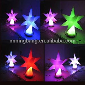 Put on Floor Party Decoration LED Inflatable Star