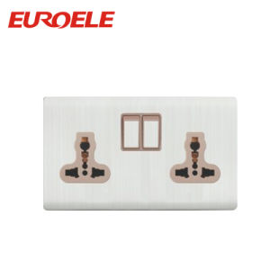 White Color Double Universal Socket Outlet pictures & photos