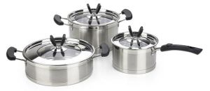 6PCS High Quality Stainless Steel Cookware Set for Sale pictures & photos