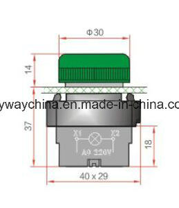 Metal Type 6-380V Pushbutton Switch pictures & photos