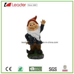 Lovely Decoration Polyresin Dwarf Say Hello for Home and Garden Decoration pictures & photos