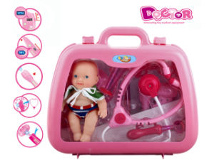 Plastic Pretend Play Toy Doctor Set with Doll in Box (H7350022) pictures & photos
