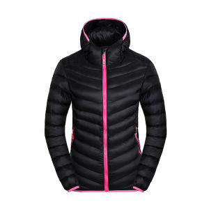 Women Winter Padding Hoody Jacket with Contrast Zipper pictures & photos