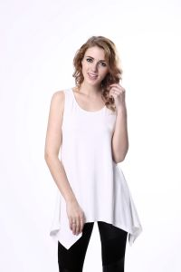 Women′s Cotton Fashion Cutting Blouse Plain Blouse Designs pictures & photos