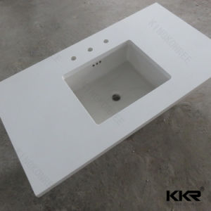Kkr New Design Solid Surface Resin Stone Kitchen Countertop pictures & photos