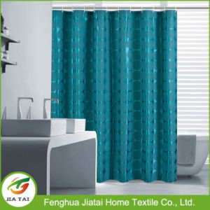 Hotel Upscale Extra Long Luxury Jacquard Shower Curtain pictures & photos