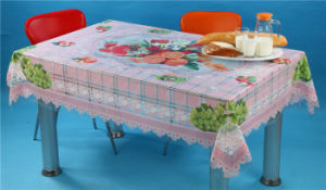 LFGB 140*180cm PVC Printed Transparent Tablecloth of Independent Design and Waterproof Oilproof Feature pictures & photos