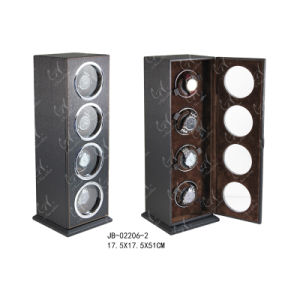 Charming Wooden Products Watch Display Case Rotating Watch Winder for 4 Watches pictures & photos