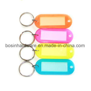 Clear Plastic Key Tag Keyring pictures & photos