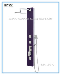 Kza-16437g Luxury Purple Tempered Glass Shower Column pictures & photos