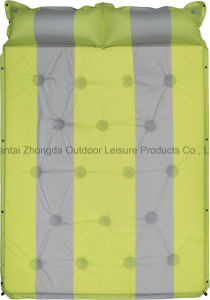 Hot Outdoor Self-Inflating Double Camping Mattress with Pillow pictures & photos