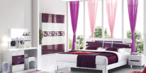 New Elegant Design High Gloss Lacquered Modern Bedroom Set (HC217B) pictures & photos