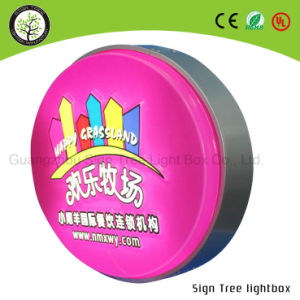 Outdoor Advertising Printing LED Aluminum Double Side Round Light Box pictures & photos