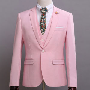 Fashion Mens Business Suit Blazer with Notch Lapel Custom pictures & photos