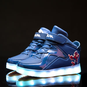 Best Seller USB Charging Light Flashing Colorful LED Shoes Sneakers pictures & photos