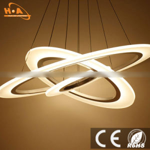 Round LED Three Rings Residential Modern Acrylic Pendant LED Light pictures & photos