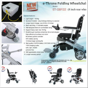 Ce Approved Folding Electric Wheelchair with 8 Inch Rear Wheel pictures & photos