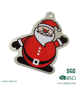 Custom Father Christmas Keychain with Epoxy for Christmas Gift pictures & photos