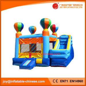 Outdoor Commercial Balloon Toy Inflatable Jumping Castle with Slide (T3-112) pictures & photos
