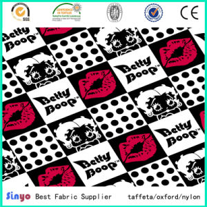 PVC Coated Oxford 600*300d Smile Cartoon Printed Fabric for Backpacks pictures & photos