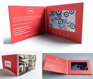 7.0inch LCD Screen Video Brochure Manuel pictures & photos