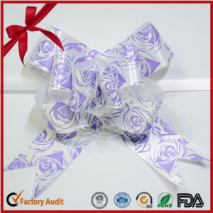 Printed Rose Pattern Christmas Ornaments Butterfly Pull Bow pictures & photos