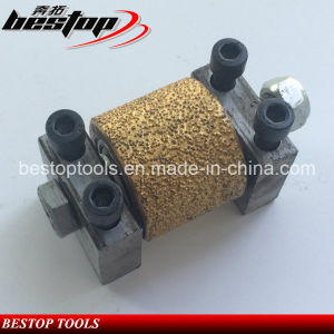 High Quality Vacuum Brazed Bush Hammer Grinding Wheels with Support pictures & photos