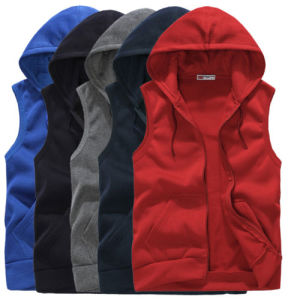 Navy Blue Sportwear Camping Fleece Vest Jacket (A644) pictures & photos