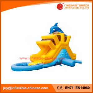 Inflatable Dolphin Water Slide with Pool for Kids (T11-111) pictures & photos