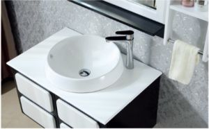 White Oak Bathroom Vanity with Black Luggage Carrier pictures & photos