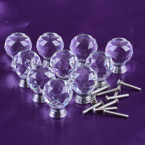 Factory Outlet Crystal Glass Door Cabinet Knob for Furniture Handles pictures & photos