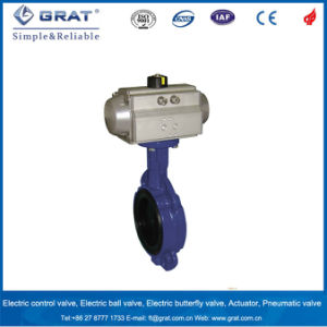 Butterfly Control Valve with Pneumatic Actuator pictures & photos