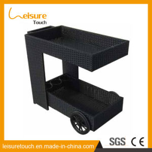 Useful Outdoor Indoor Garden Restaurant Furniture Handmade Rattan Hotel Supermarket Rattan Wheel Barrow Dining Cart /Car pictures & photos