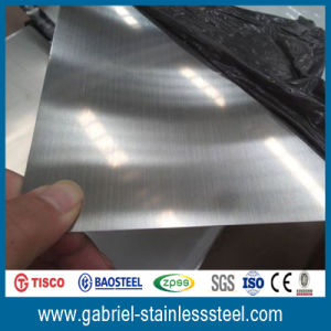 1.0mm Thickness Brushed Stainless Steel Metal Plate Finish Grades 316L pictures & photos