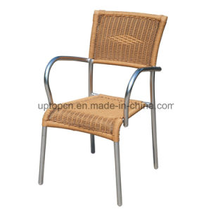 Comfortable Outdoor Restaurant Rattan Chair with Armrest (SP-OC824) pictures & photos