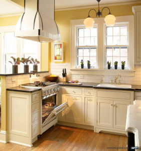 White Mini Kitchen Solid Wood Kitchen Cabinet pictures & photos