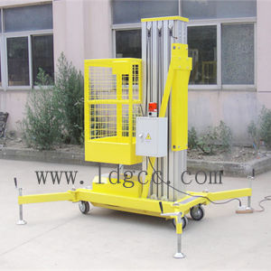 8meters Aluminium Hydraulic Aerial Work Lift Platform (GTWY8-100 yellow) pictures & photos