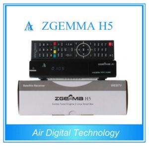 High-Tech Digital Satellite Receiver Zgemma H5 Linux OS E2 DVB-S2+T2/C Hevc/H. 265 Twin Tuners pictures & photos