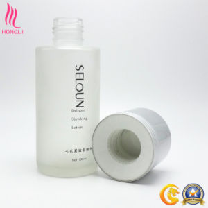 100ml Frosted Cylindrical Glass Bottle with Lined Cap pictures & photos