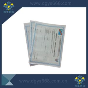 Watermark Paper Anti-Counterfeiting Certificate Printing pictures & photos