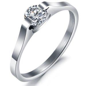 Fashion Titanium Steel Zircon Diamond Crystal Designer Woman Rings Stainless Steel Jewelry pictures & photos