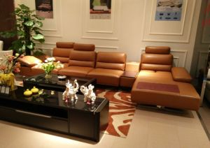 2017 Royal Leather Sofa Set for Livingroom Furniture (LS-014) pictures & photos