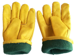 Cow Grain Leather Keystone Thumb Driver Glove pictures & photos