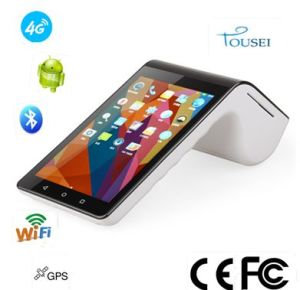 7 Inch Touch Screen Mobile NFC POS Terminal PT-7003 with Dual Display pictures & photos