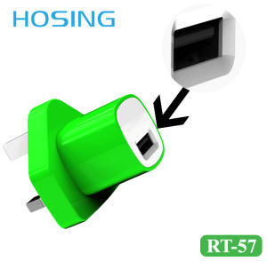 Mini Design 5V 1A Colorful USB Home Charger for iPhone/Samsung/ Huawei pictures & photos