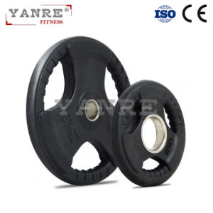 Gym Fitness Equipment Crossfit Rubber Coated Weight Lifting Bumper Plates Barbell Plate pictures & photos
