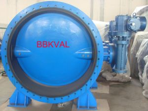 Dn2200 Big Size Vulcanized Seated Double Flange Centric Butterfly Valve pictures & photos
